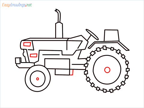 how to draw a tractor step (8)