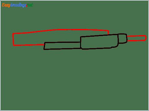 how to draw an uzi step (3)