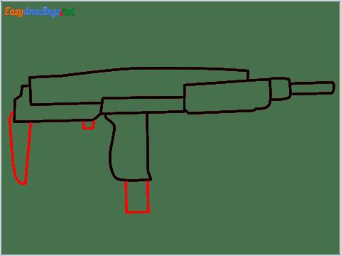 how to draw an uzi step (5)