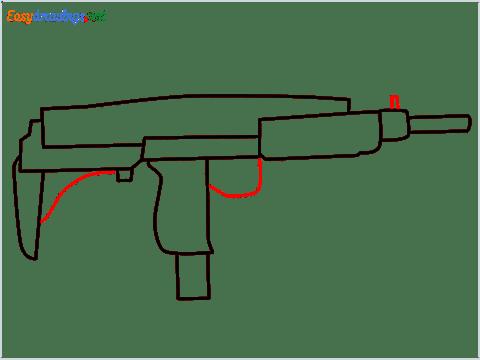 how to draw an uzi step (6)