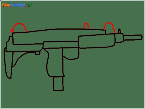 how to draw an uzi step (7)