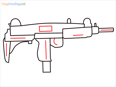 how to draw an uzi step (8)
