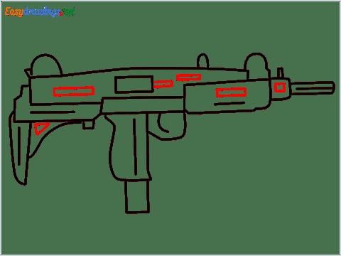 how to draw an uzi step (9)