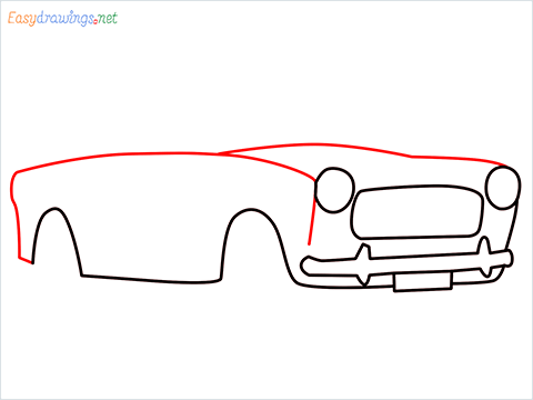 how to draw fiat premier padmini car step (5)