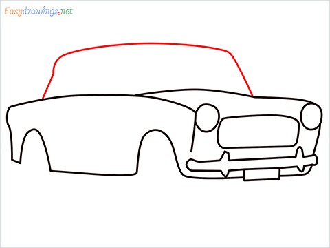 how to draw fiat premier padmini car step (6)