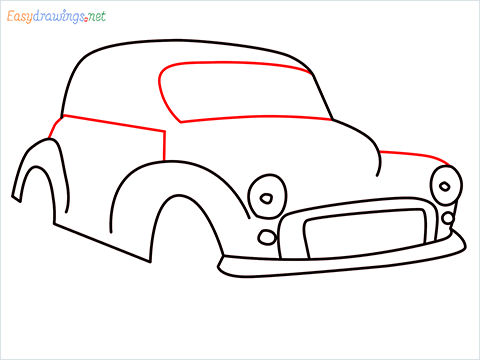 how to draw morris minor step (7)