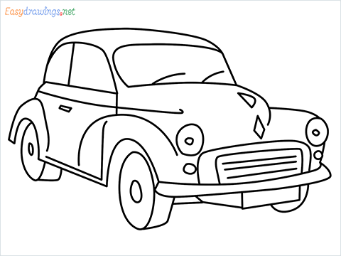 how to draw morris minor step by step for beginners