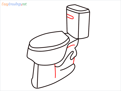how to draw toilet (7)