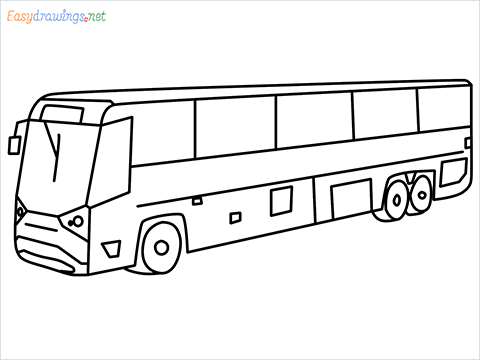 how to draw volvo bus step by step for beginners