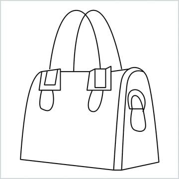 ladies bag coloring page