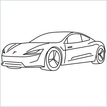 tesla car coloring page