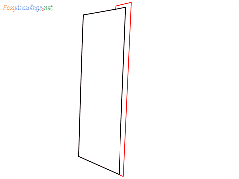 How To Draw A Double door refrigerator Step (2)