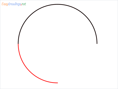 How to Draw a Circle step (3)