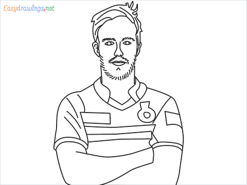 How to draw A B de Villiers step by step for beginners