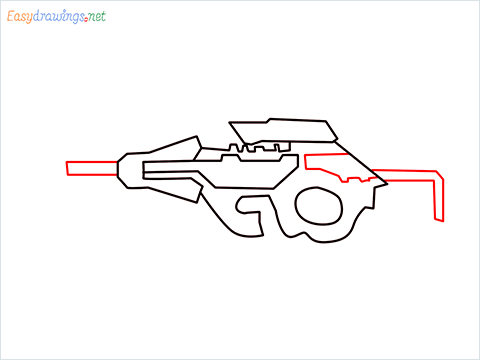 How to draw CG15 step (5)