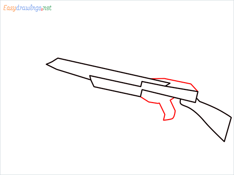 How to draw CROSSBOW step (3)