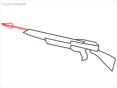 How to draw CROSSBOW step (4)