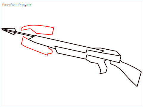 How to draw CROSSBOW step (5)