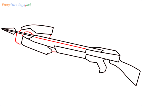 How to draw CROSSBOW step (6)