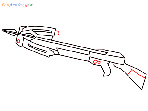 How to draw CROSSBOW step (8)