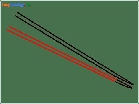 How to draw Chopsticks step (4)