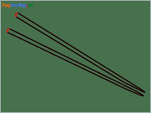 How to draw Chopsticks step (5)