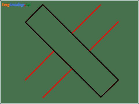 How to draw Cross shape step (3)