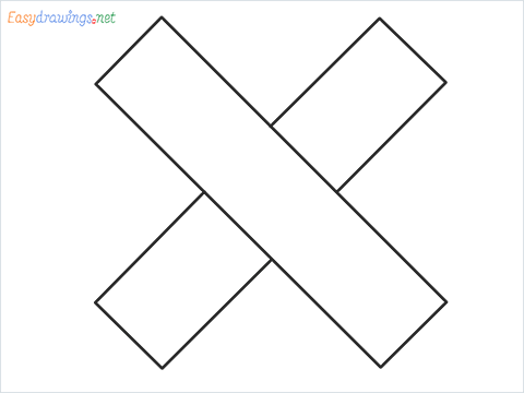 How to draw Cross shape step by step for beginners