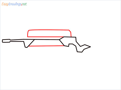 How to draw FAMAS Gun step (3)