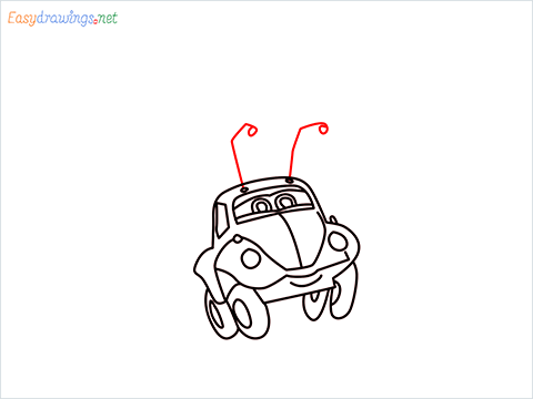 How to draw Flik car from disney cars step (11)