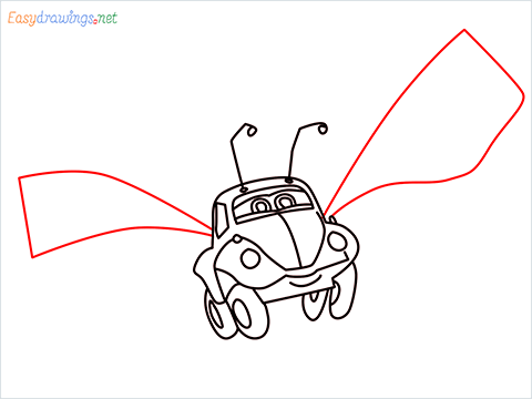 How to draw Flik car from disney cars step (12)