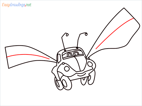 How to draw Flik car from disney cars step (13)