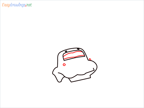 How to draw Flik car from disney cars step (5)