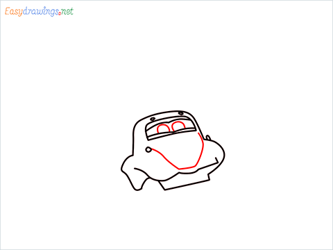 How to draw Flik car from disney cars step (6)