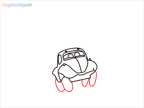 How to draw Flik car from disney cars step (8)