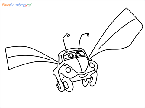 How to draw Flik car from disney cars step by step for beginners