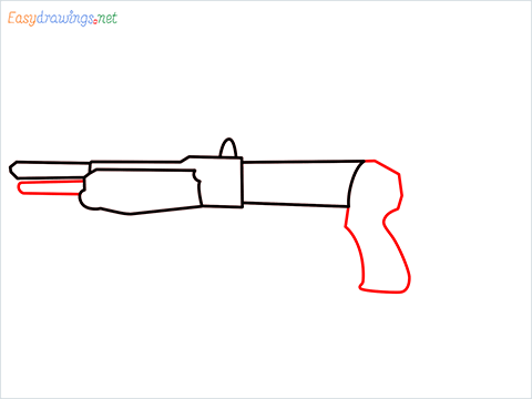 How to draw Gallo sa12 loadout warzone step (4)