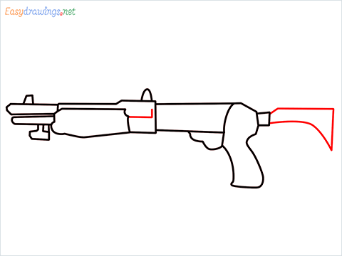 How to draw Gallo sa12 loadout warzone step (6)