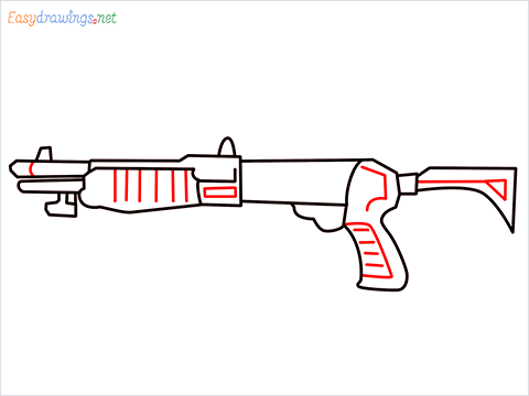 How to draw Gallo sa12 loadout warzone step (7)