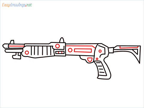 How to draw Gallo sa12 loadout warzone step (8)