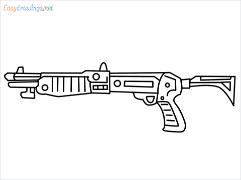 How to draw Gallo sa12 loadout warzone step by step for beginners