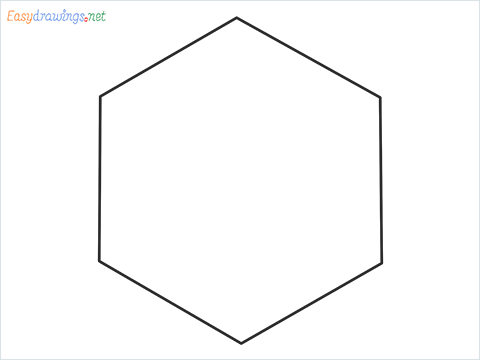 How to draw Hexagon shape step by step for beginners