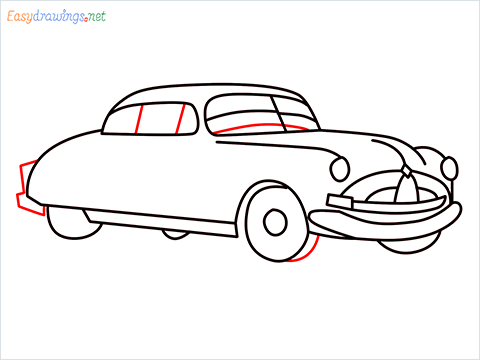 How to draw Hudson Hornet step (11)