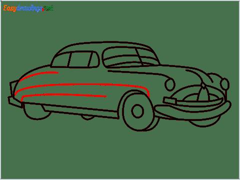 How to draw Hudson Hornet step (12)
