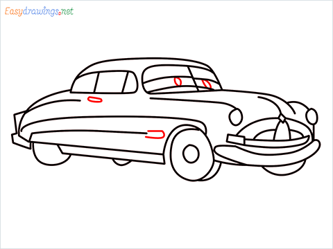 How to draw Hudson Hornet step (13)