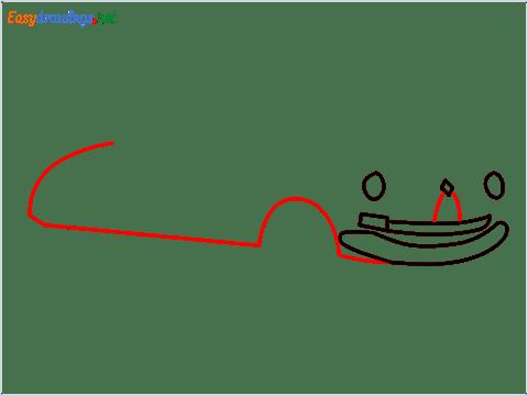 How to draw Hudson Hornet step (4)