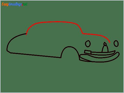 How to draw Hudson Hornet step (5)