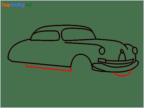 How to draw Hudson Hornet step (8)