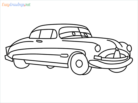 How to draw Hudson Hornet step by step for beginners