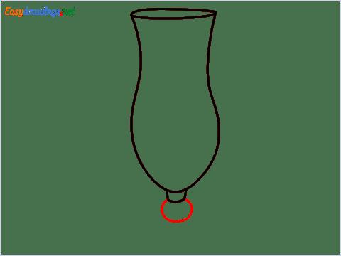 How to draw Hurricane glass step (4)